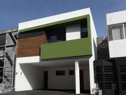 Projekty, nowoczesne Domy zaprojektowane przez AaC+V Arquitectos