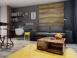Salas de estilo industrial por Дизайн-бюро № 11