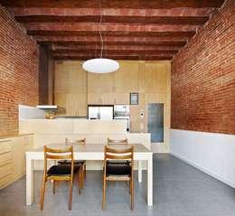 minimalistic Dining room by Vallribera Arquitectes