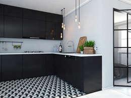 Mieszkanie Mysłowice: styl , w kategorii Kuchnia zaprojektowany przez FOORMA Pracownia Architektury Wnętrz