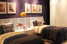 Dormitorios de estilo moderno por Cromalux Sistemas de Iluminação Ltda