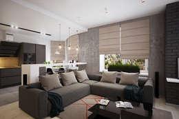 Salas de estilo industrial por Solo Design Studio