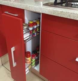 Projekty,  Kuchnia zaprojektowane przez ARKIZA ARQUITECTOS by Arq. Jacqueline Zago Hurtado