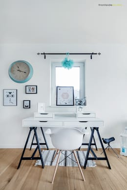 scandinavian Study/office by PracowniaPolka