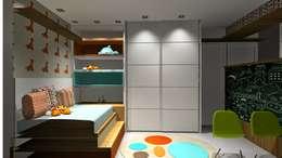 Conceito quarto infantil por Lucio Nocito Arquitetura : Quarto infantil  por Lucio Nocito Arquitetura e Design de Interiores