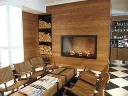 modern Living room by GlammFire