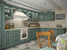 Cocinas de estilo rural por Елена Марченко