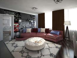Decor&Design: eklektik tarz tarz Oturma Odası