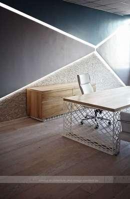 HePe Design interiors – Bilge İnox: modern tarz Çalışma Odası