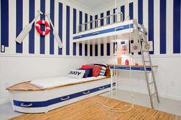 Suite do Caçula: Quarto infantil  por Karla Silva Designer de Interiores