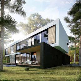 Casas de estilo minimalista por Z3Z ARCHITEKCI