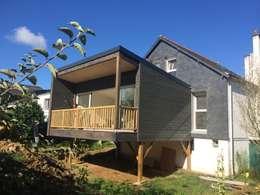 Exceptionnel Extension Ossature Bois Sur Pilotis: Terrasse De Style Par BCM Grandes Images