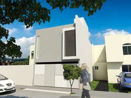 Casas de estilo minimalista por Flores Rojas Arquitectura