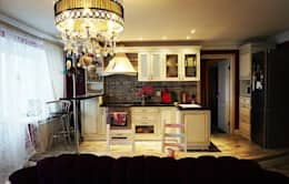 Дизайн интерьера кухни-гостиной на Кавалерийской: Кухни в . Автор – MARIA MELNICOVA студия SIERRA