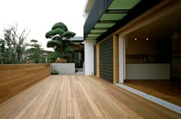 桐山和広建築設計事務所의  베란다