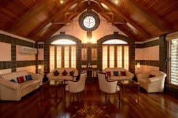 Residence Sangeeta: asian Living room by Kumar Consultants