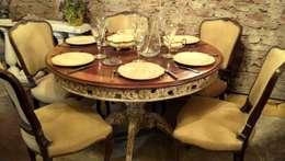 MESA PATA CENTRAL SHERATON TALLADA: Comedores de estilo clásico por Muebles eran los de antes - Buenos Aires