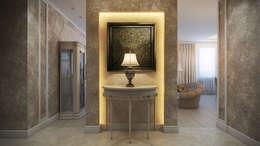 Четырехкомнатная квартира в классическом стиле: Коридор и прихожая в . Автор – Details, design studio