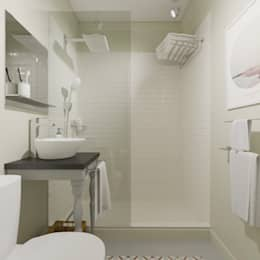 : minimalistic Bathroom by Interiorbox
