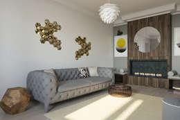 Salas de estilo minimalista por Interiorbox
