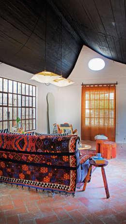 Salas / recibidores de estilo moderno por Juan Carlos Loyo Arquitectura