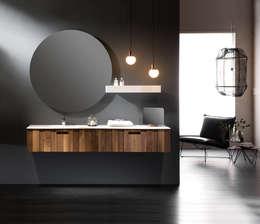 Flow Valnut Badmeubel: moderne Badkamer door Flow Company