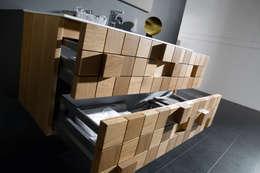 Flow Exclusive Grid Badmeubel: moderne Badkamer door Flow Company