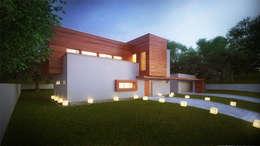 Projekty domów - House x02: styl nowoczesne, w kategorii Domy zaprojektowany przez Majchrzak Pracownia Projektowa