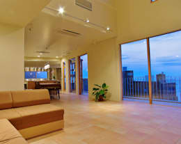 modern Living room by 川口孝男建築設計事務所