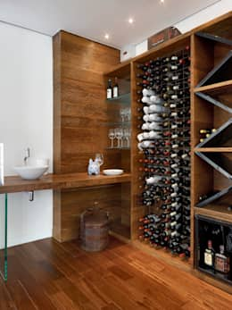 modern Wine cellar by Márcia Carvalhaes Arquitetura LTDA.