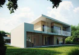 Projekty domów - House 08: styl nowoczesne, w kategorii Domy zaprojektowany przez Majchrzak Pracownia Projektowa