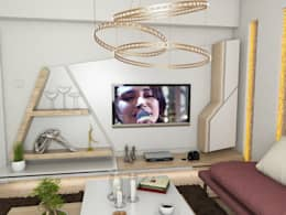 Murat Aksel Architecture – Housing: modern tarz Oturma Odası