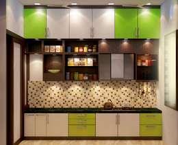 Modularkitchen: modern Kitchen by Creazione Interiors