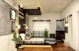 غرفة نوم تنفيذ BN Architects
