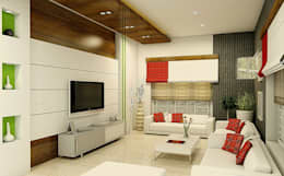 Living Area: modern Living room by BN Architects