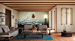 tropical Living room by makasa
