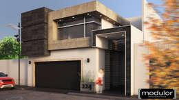 Fachada A224: Casas de estilo moderno por Modulor Arquitectura