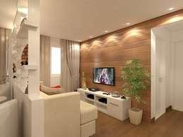 Salas/Recibidores de estilo moderno por Danielle David Arquitetura
