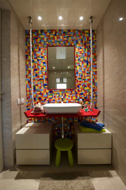 NG Apartment : modern Bathroom by Atelier Design N Domain