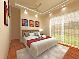 C-1860 Sushant Lok 1, Gurgaon, Haryana: modern Bedroom by Indeera Builders Private Limited