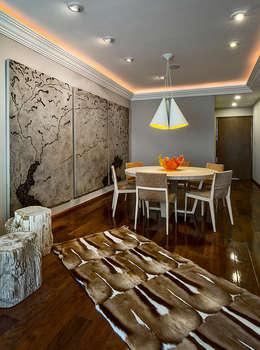 Residencia Toronjos: Salas de estilo moderno por Olivia Aldrete Haas