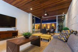 Ampliación Residencia La Rioja: Salas multimedia de estilo moderno por Grupo Arsciniest