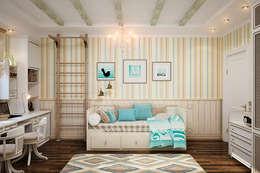 Детская для двух детей - уютный интерьер в британском стиле: Детские комнаты в . Автор – Студия дизайна Interior Design IDEAS