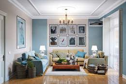 modern Living room by Студия дизайна Interior Design IDEAS