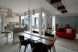 modern Dining room by スタジオ・ベルナ