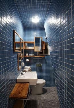 잉여주택: designvom의  화장실