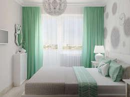 Яркая квартира: Спальни в . Автор – Olesya Parkhomenko