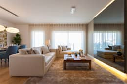 Projekty,  Salon zaprojektowane przez Traço Magenta - Design de Interiores