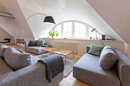 Salas / recibidores de estilo escandinavo por Planungsgruppe Barthelmey