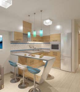 minimalistic Kitchen by Студия дизайна Виктории Силаевой
